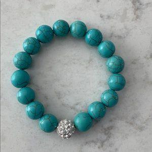 Stella & Dot Soirée Pave Turquoise Bracelet